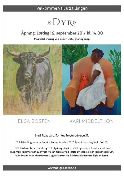 Utstillingsplakat. Helga Bosten og Kari Middelthon