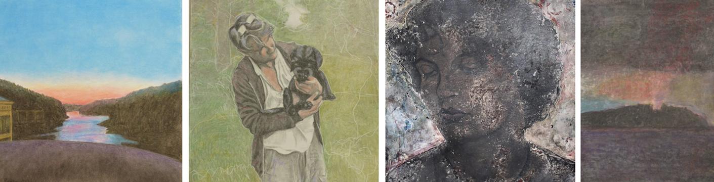 Malerier av Helga Bosten.