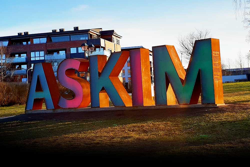 Foto av Askim-statue