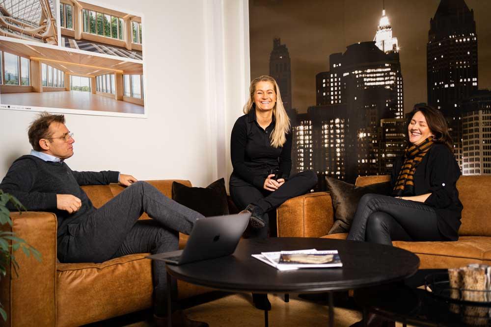 Foto av Harald, Jannicke og Therese